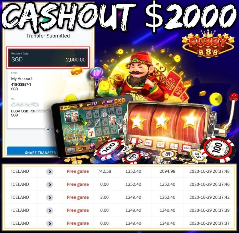 MEMBER PLAY PUSSY888 CASHOUT $2000