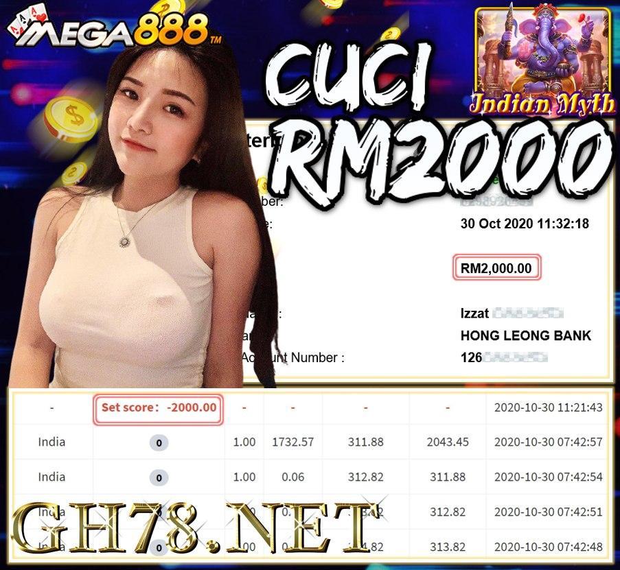 MEMBER MAIN MEGA888 CUCI RM2000!!!