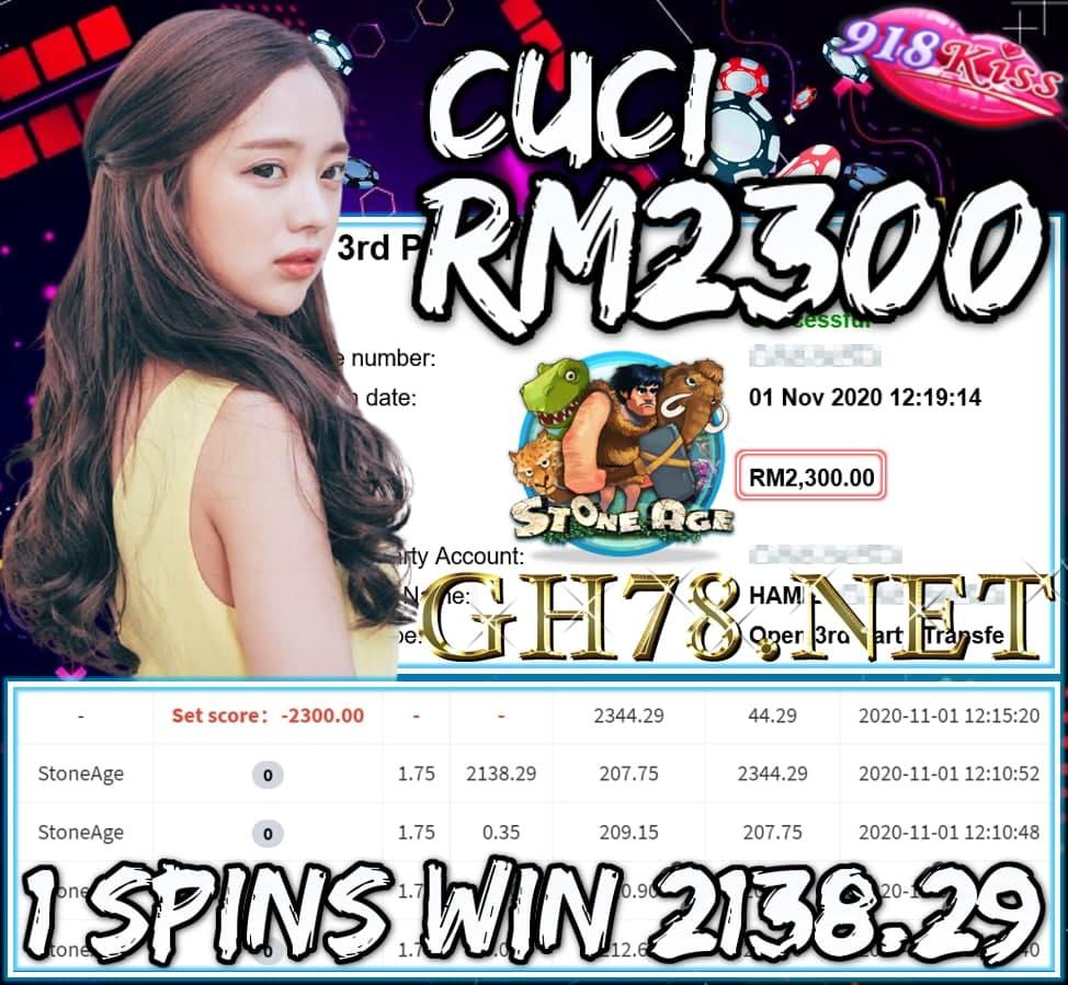 MEMBER MAIN 918KISS CUCI RM2300