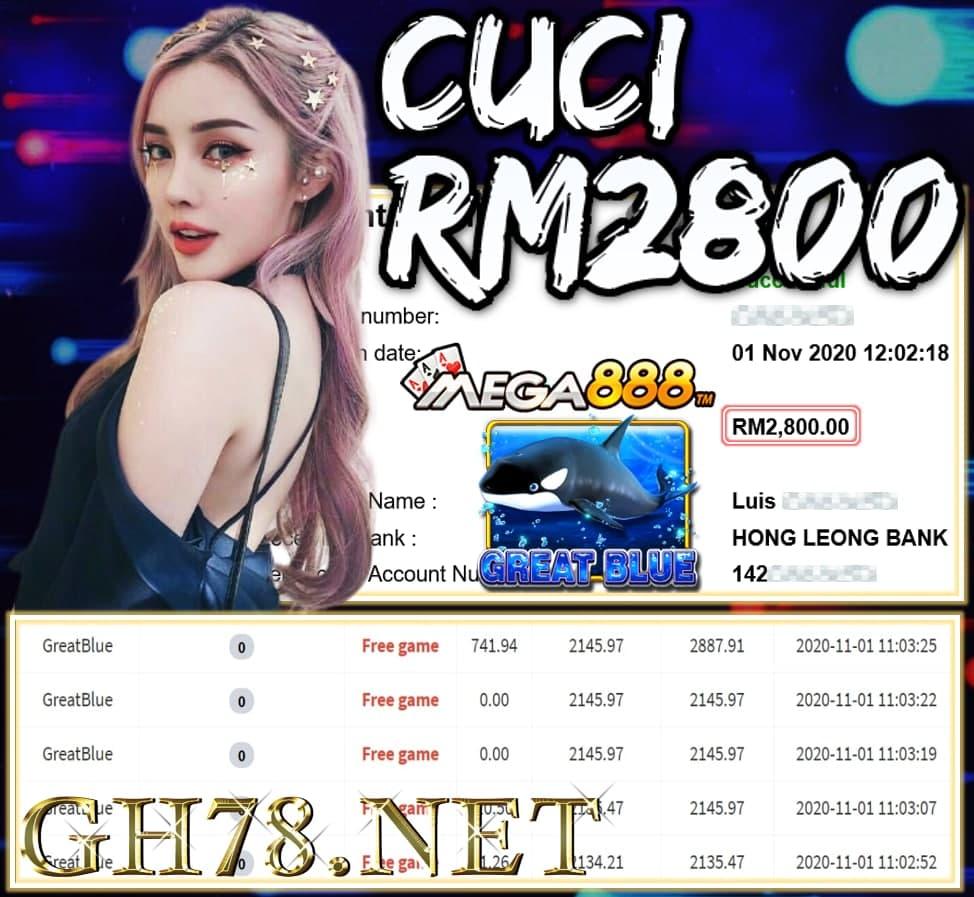 MEMBER MAIN MEGA888 CUCI RM2800