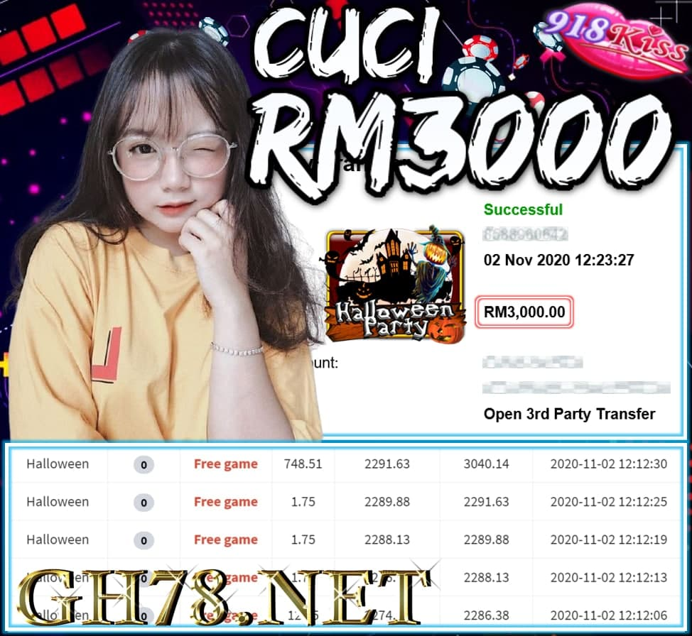 MMEBER MAIN 918KISS CUCI RM3000