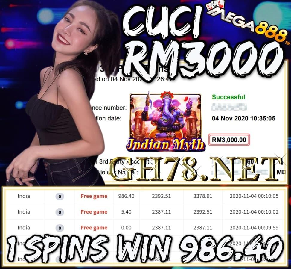 MEMBER MAIN MEGA888 CUCI RM3000