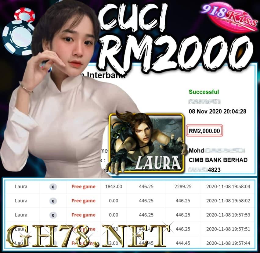MEMBER MAIN 918KISS CUCI RM2000