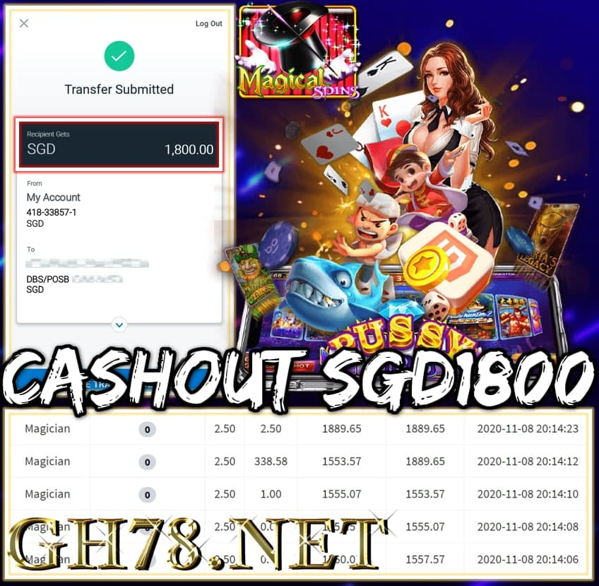 MEMBER PLAY PUSSY888 CASHOUT SGD1800