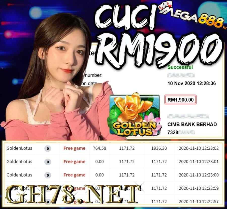 MEMBER MAIN MEGA888 CUCI RM1900