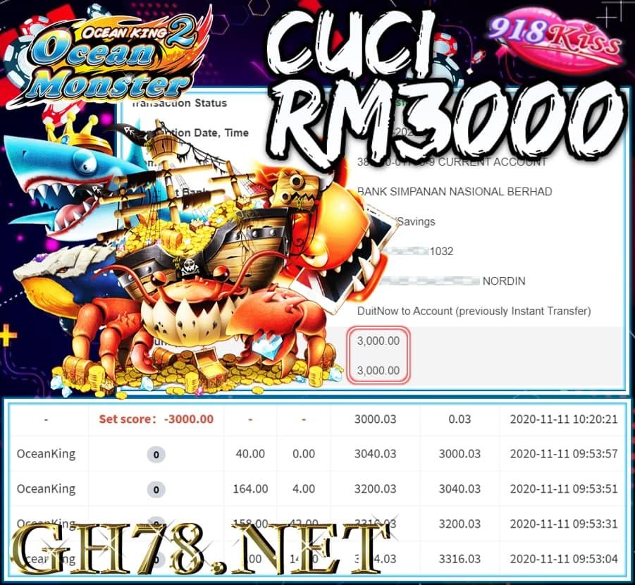 MEMBER MAIN 918KISS CUCI RM3000 !!!