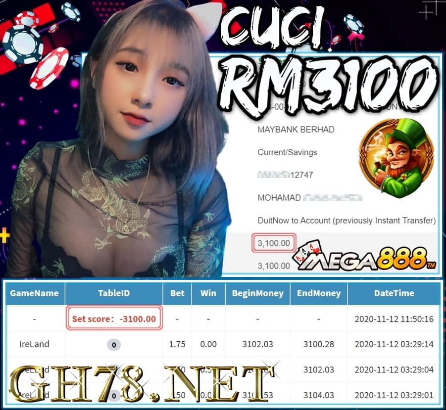 MEMBER MAIN MEGA888 CUCI RM3100 !!!