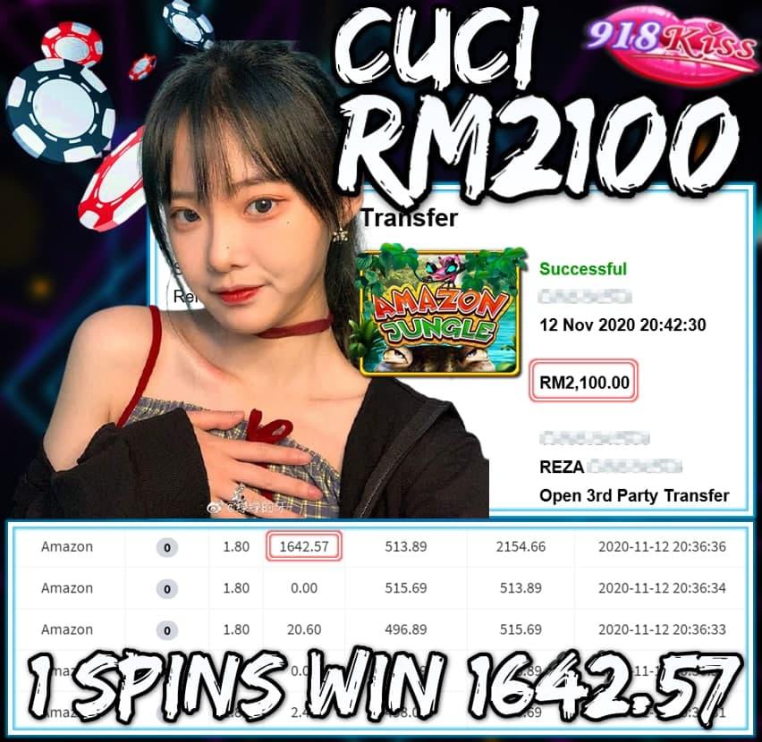 MEMBER MAIN 918KISS CUCI RM2100 !!!