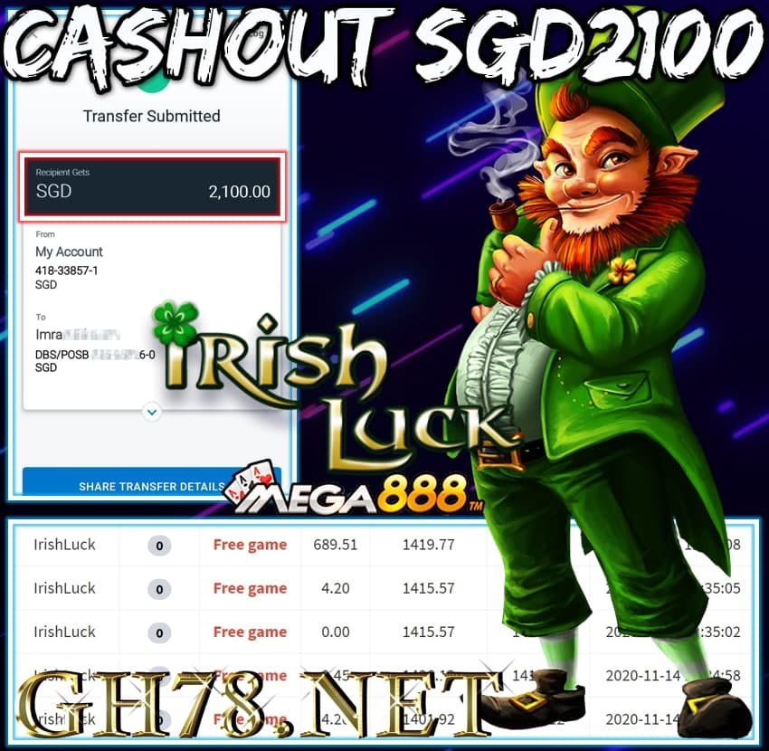 MEMBER PLAY MEGA888 CASHOUT SGD2100