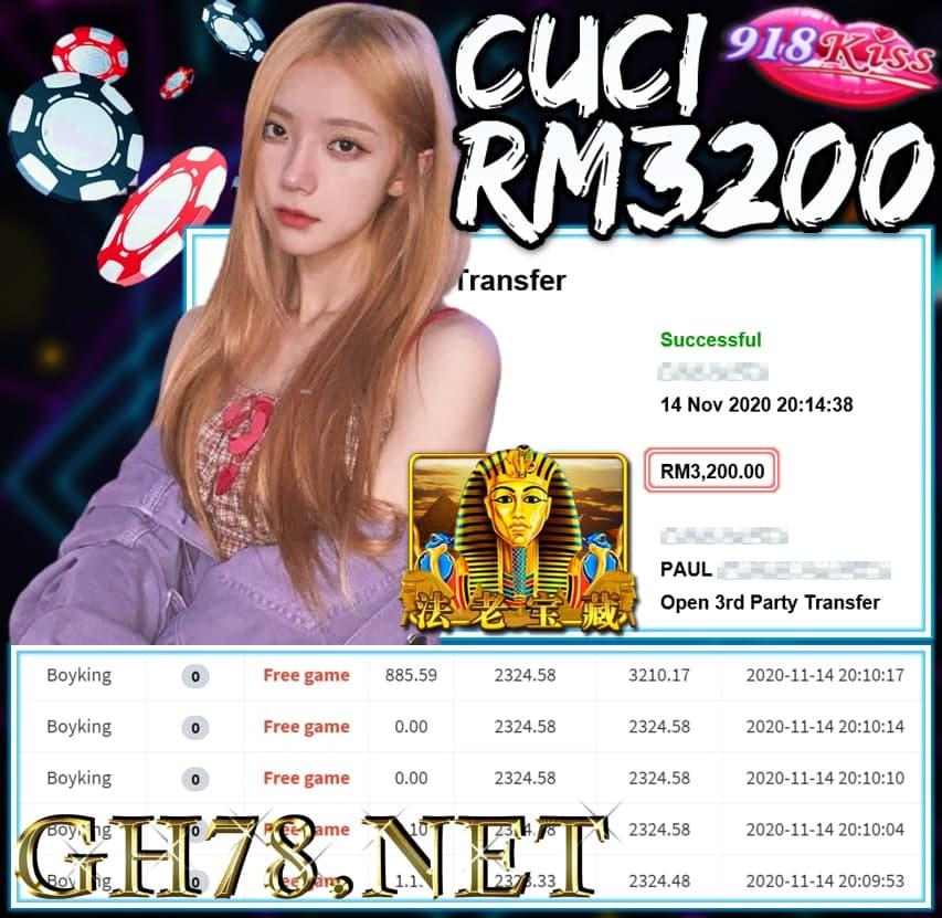 MEMBER MAIN 918KISS CUCI RM3200