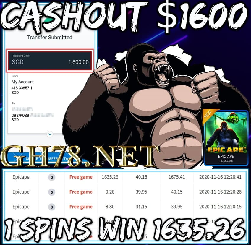 MEMBER PLAY PUSSY888 CASHOUT SGD1600 !!!