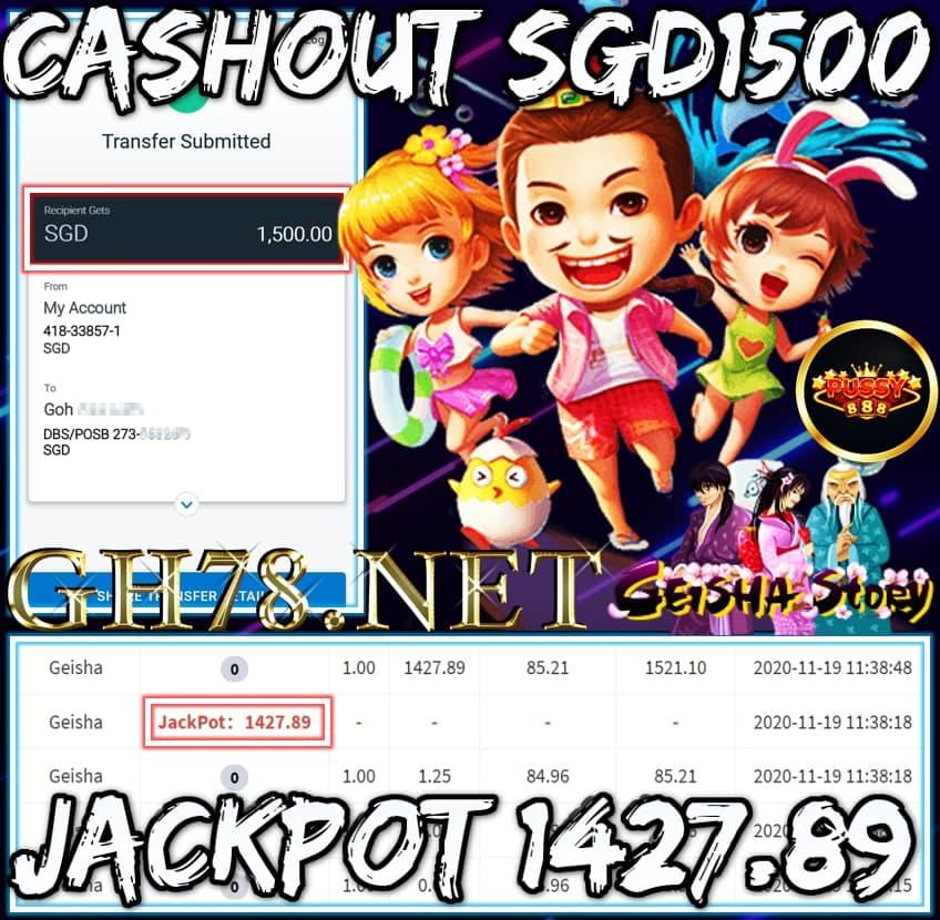 MEMBER PLAU PUSSY888 CASHOUT SGD1500 !!!