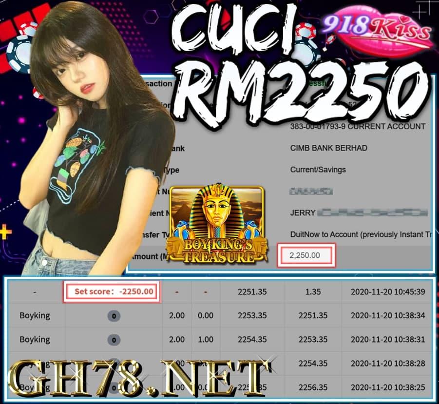 MEMBER MAIN 918KISS CUCI RM2250 !!!
