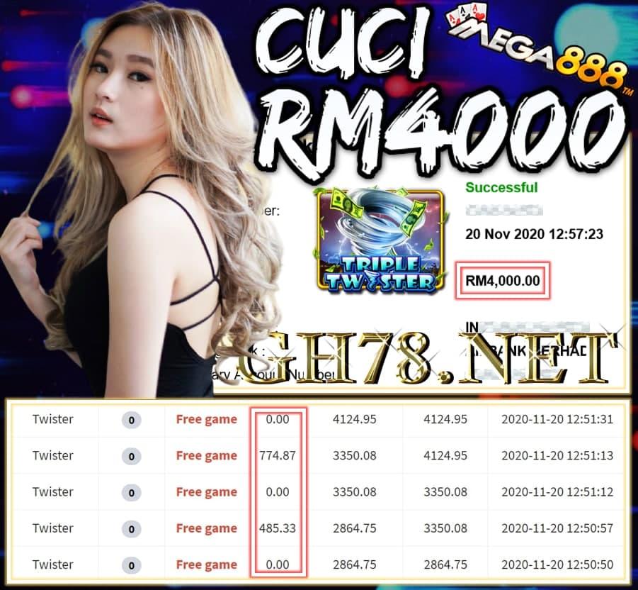 MEMBER MAIN MEGA888 CUCI RM4000 !!!