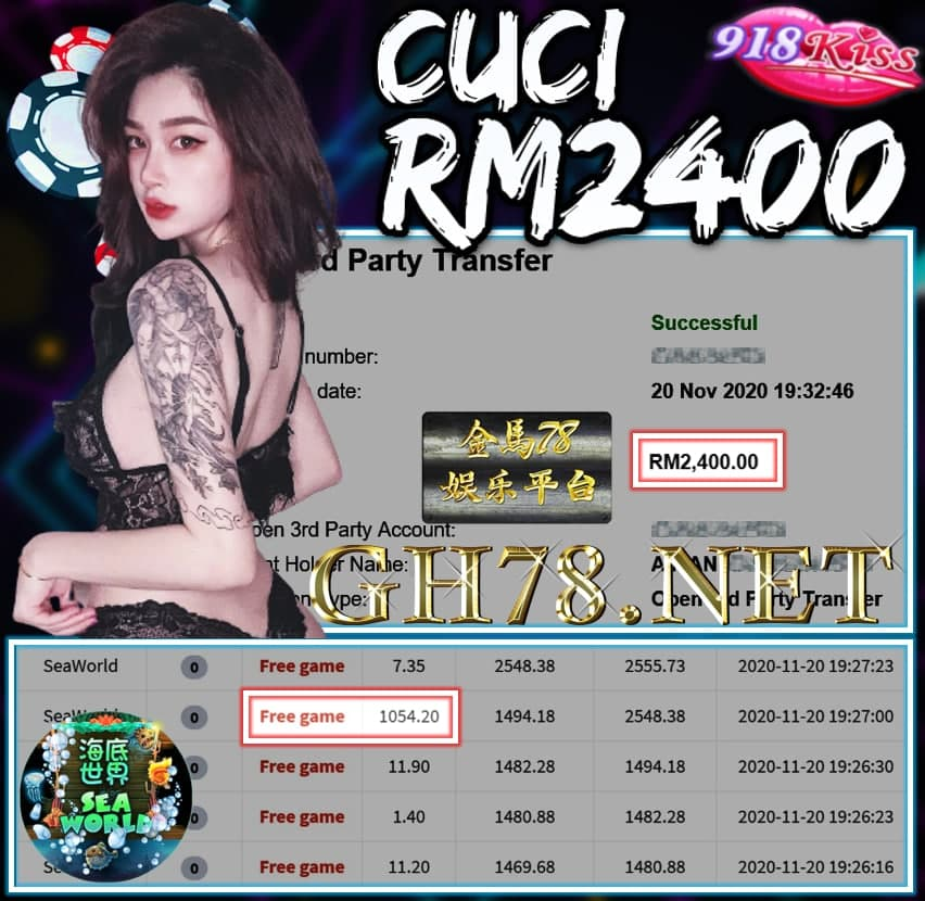 MEMBER MAIN 918KISS CUCI RM2400 !!!