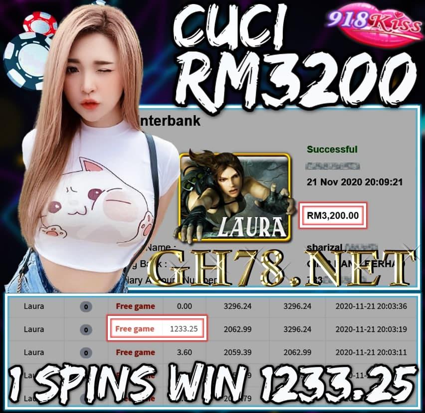 MEMBER MAIN 918KISS CUCI RM3200 !!!