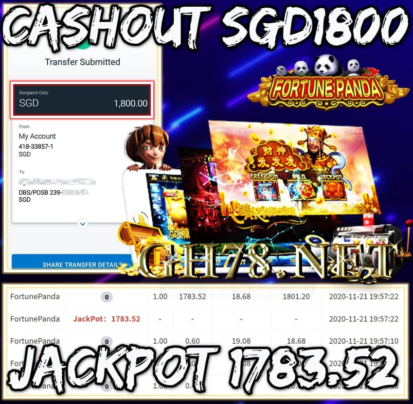 MEMBER PLAY PUSSY888 CASHOUT SGD1800 !!