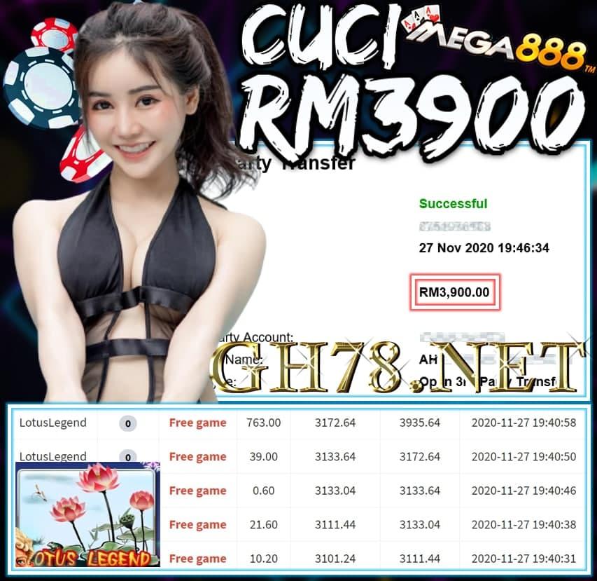 MEMBER MAIN MEGA888 CUCI RM3900 !!!