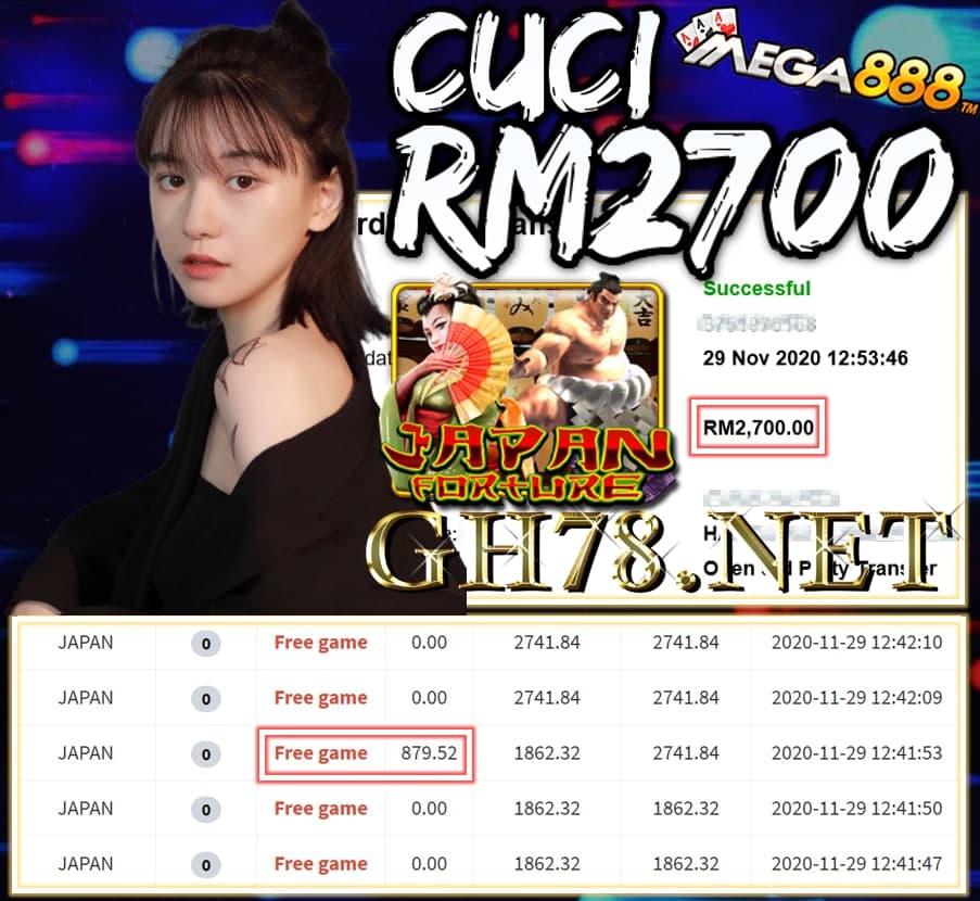 MEMBER MAIN MEGA888 CUCI RM2700 !!!