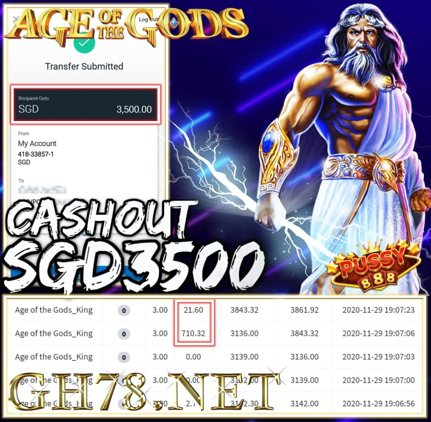 MEMBER PLAY PUSSY888 CASHOUT SGD3500 !!!