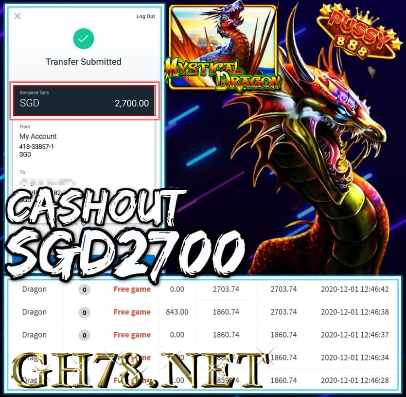 MEMBER PLAY PUSSY888 CASHOUT $2700 !!!
