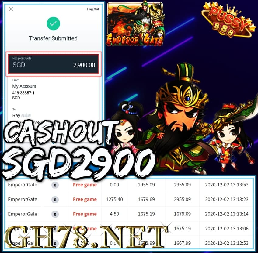 MEMBER PLAY PUSSY888 CASHOUT $2900 !!