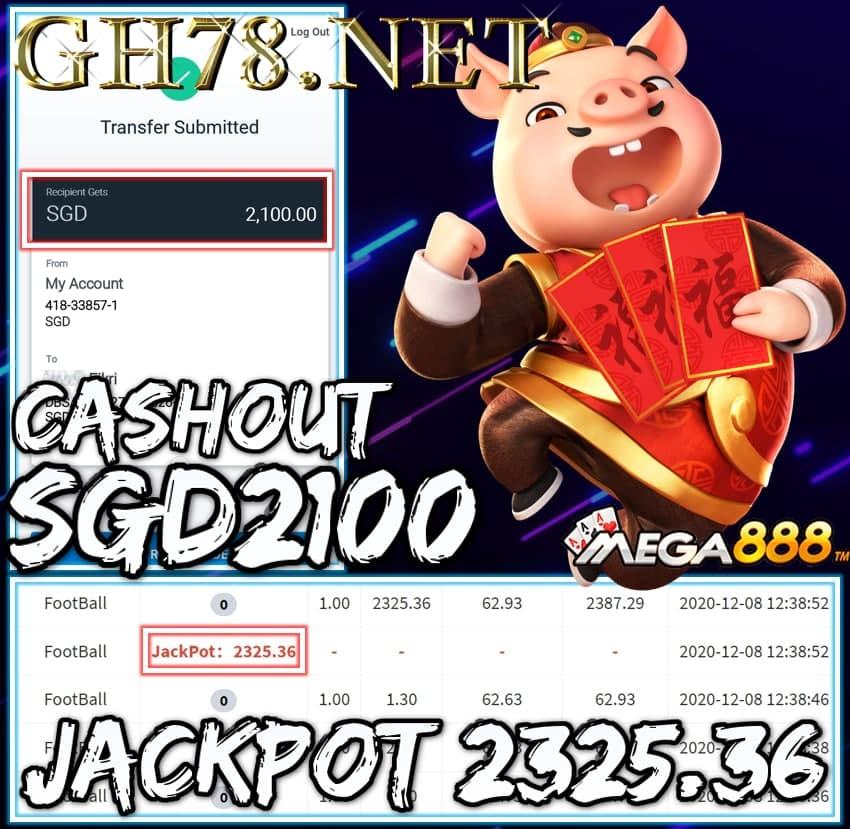 MEMBER PLAY MEGA888 CASHOUT SGD2100 !!!