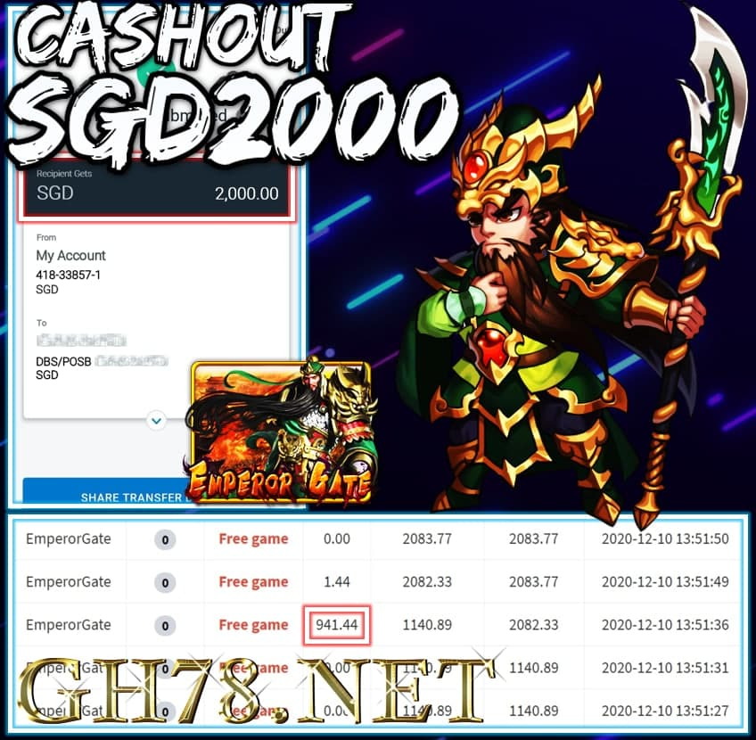 MEMBER PLAY PUSSY888 CASHOUT SGD2000 !!!