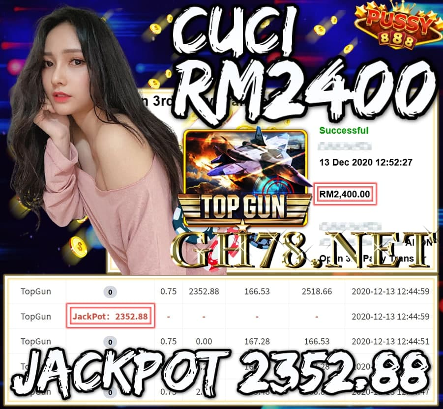 MEMBER MAIN PUSSY888 DAPAT JACKPOT CUCI RM2400 !!