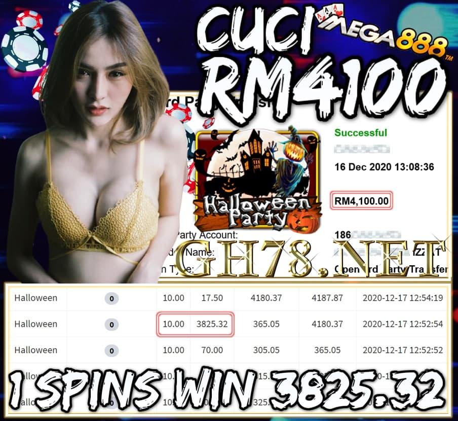 MEMBER MAIN MEGA888 CUCI RM4100 !!!