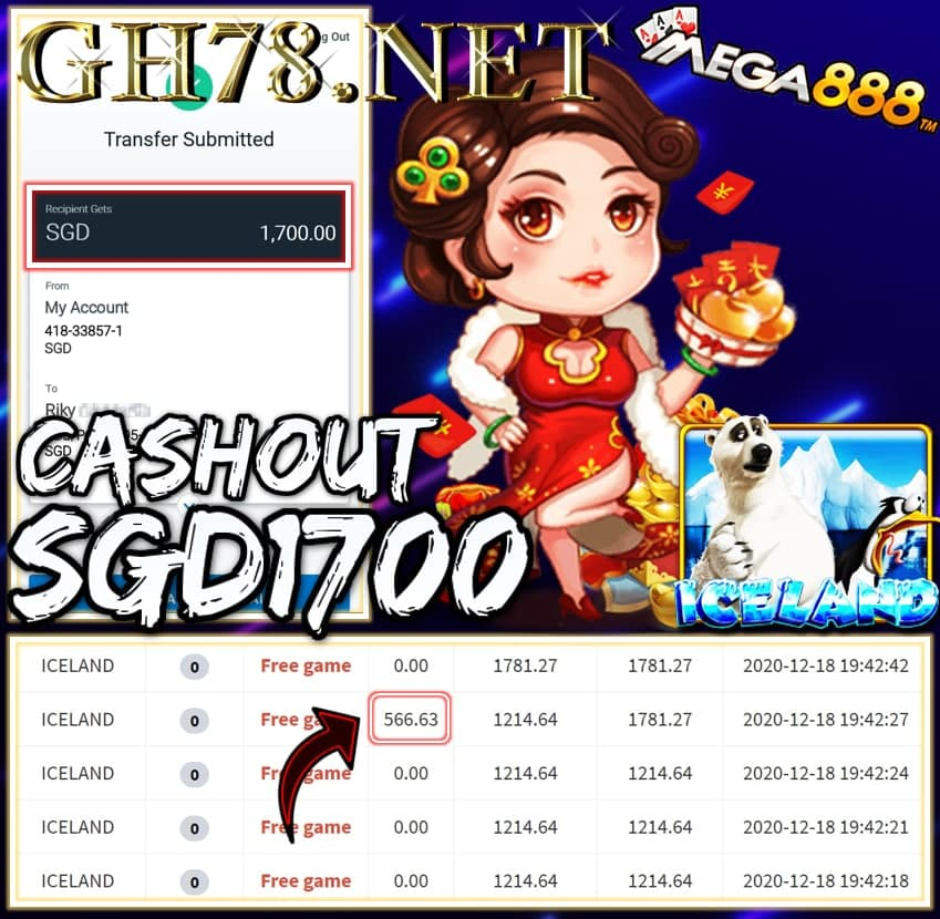 MEMBER PLAY PUSSY888 CASHOUT SGD1700 !!!