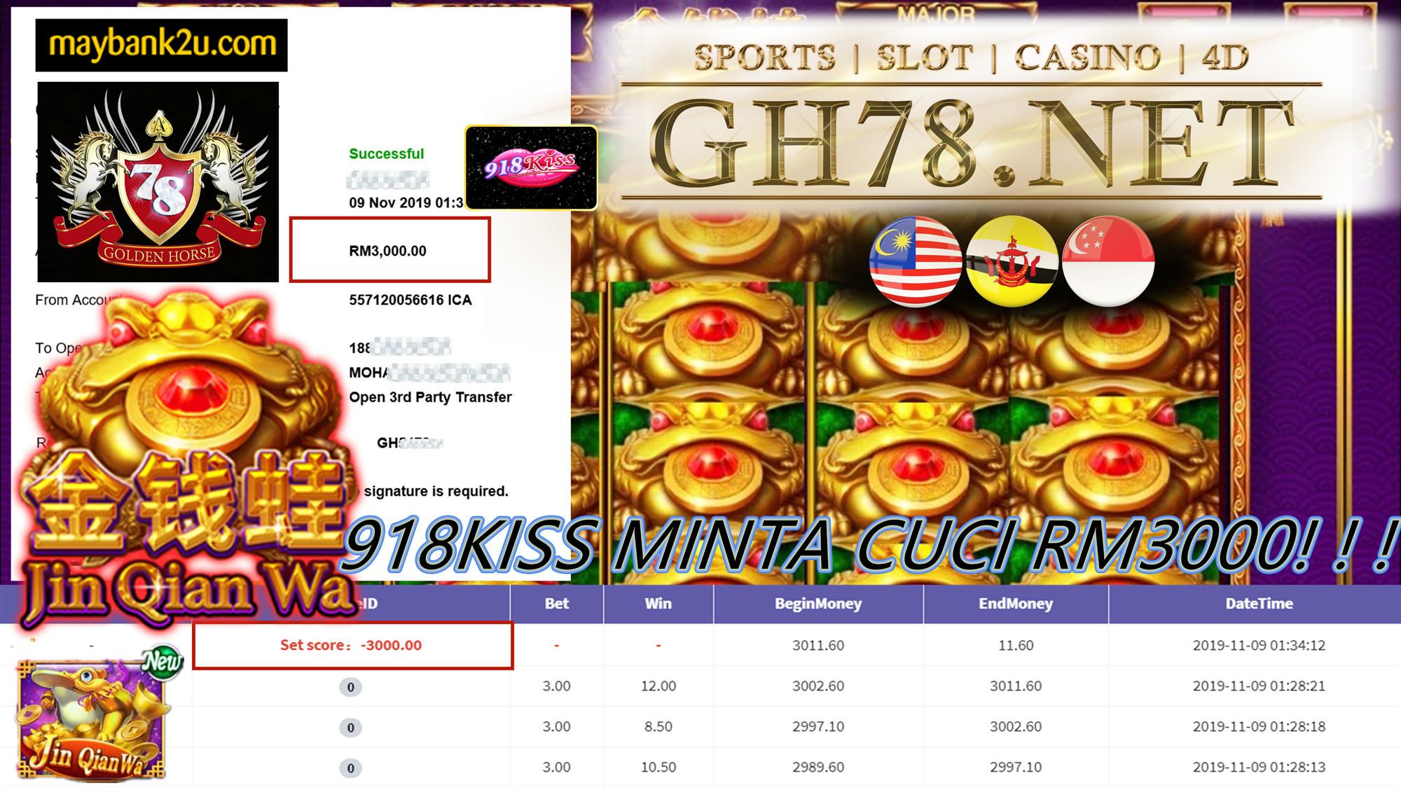 918KISS MINTA CUCI RM3000!!!!!
