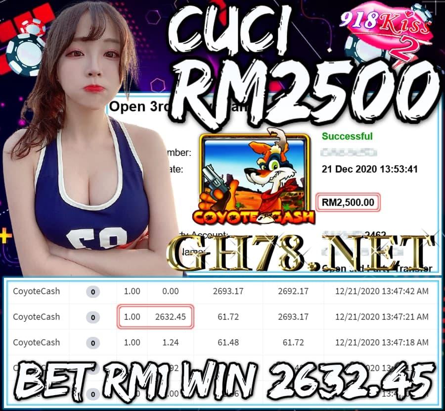 MEMBER MAIN MEGA888 CUCI RM2500 !!!