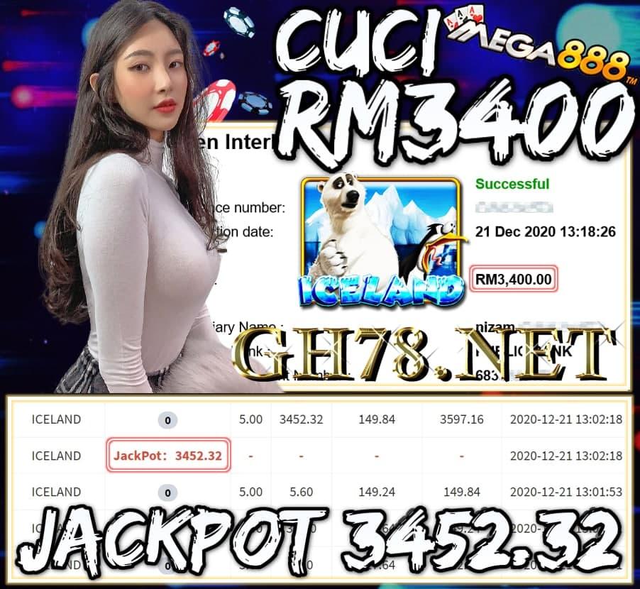 MEMBER MAIN MEGA888 CUCI RM3400 !!!