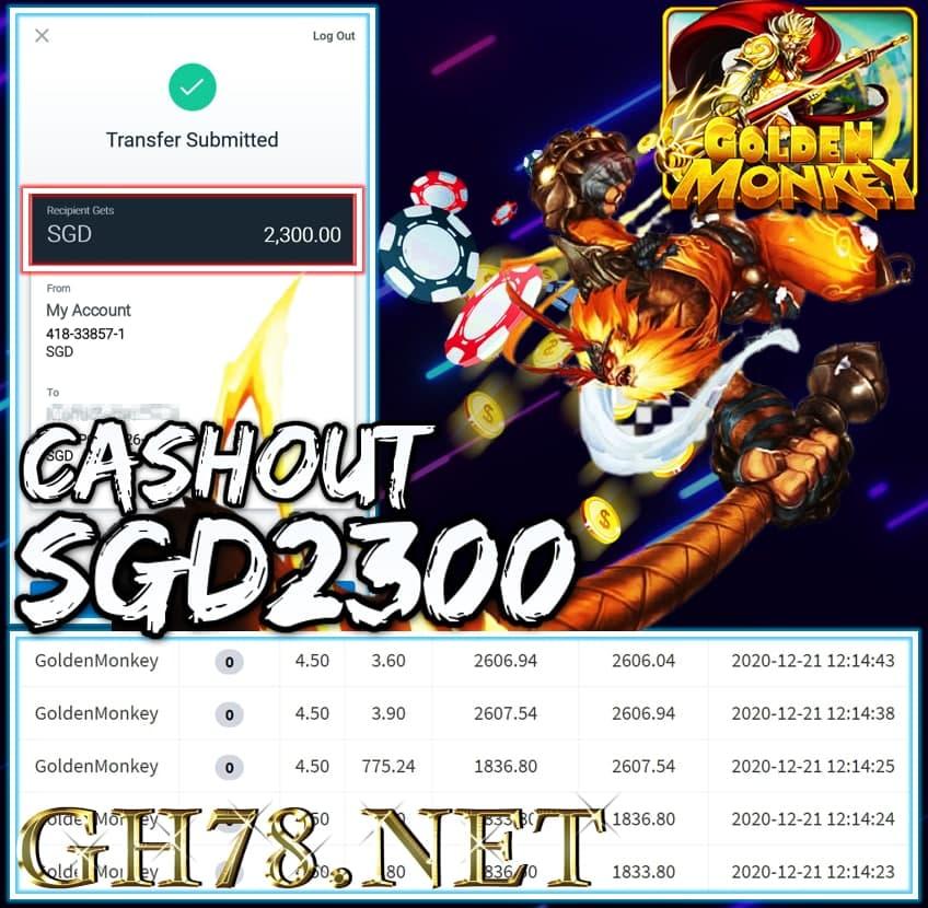 MEMBER PLAY MEGA888 CUCI CASHOUT SGD2300 !!