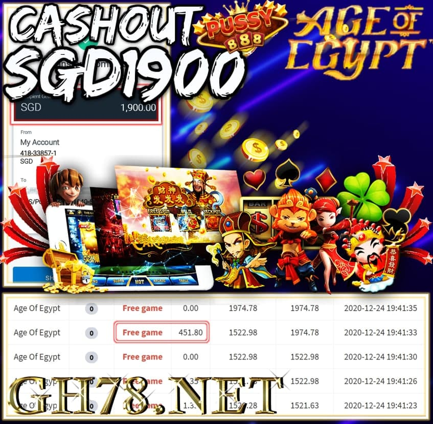 MEMBER PLAY PUSSY888 CASHOUT $1900 !!