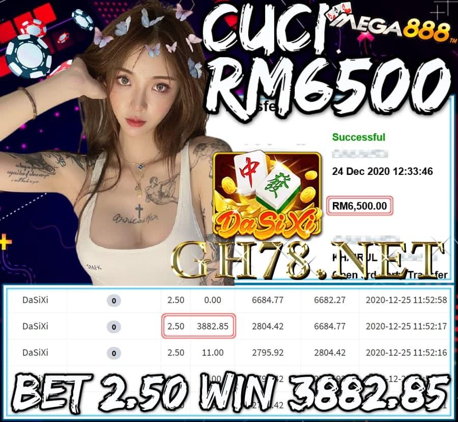 MEMBER MAIN MEGA888 CUCI RM6500 !!!