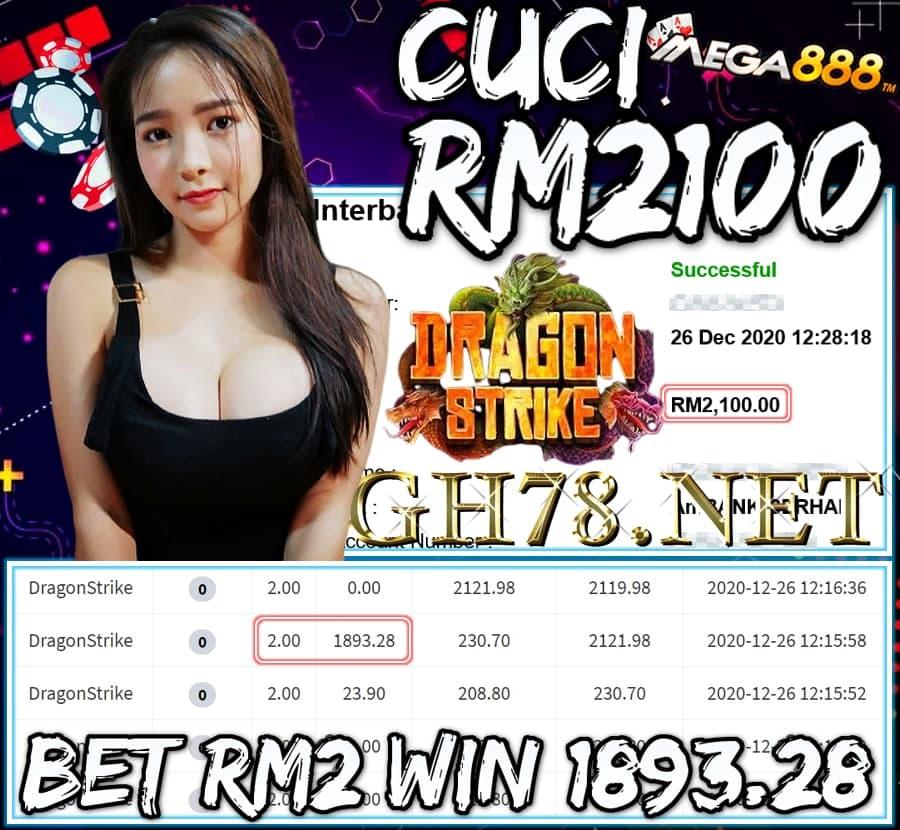 MEMBER MAIN MEGA888 CUCI RM2100 !!!