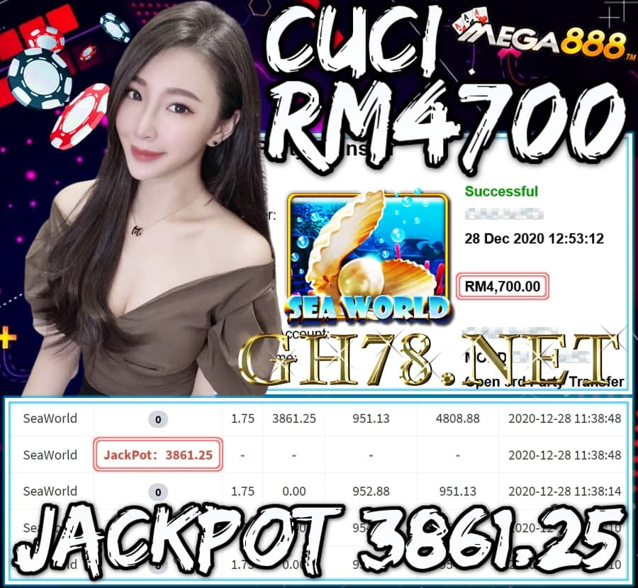 MEMBER MAIN MEGA888 CUCI RM4700 !!!