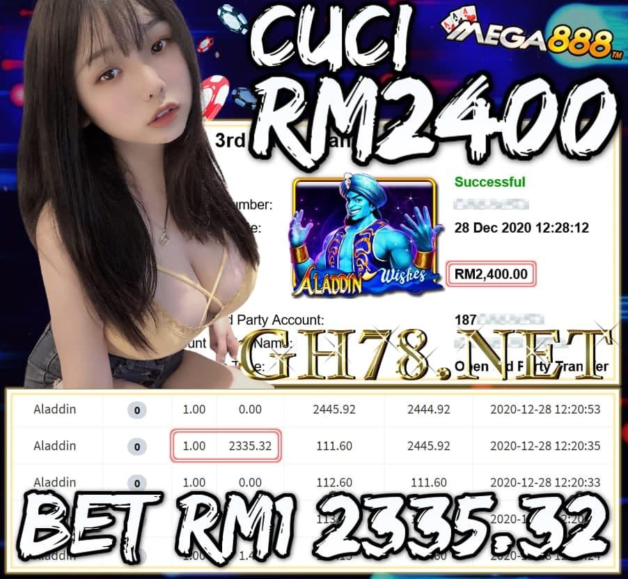 MEMBER MAIN MEGA888 CUCI RM2400 !!!