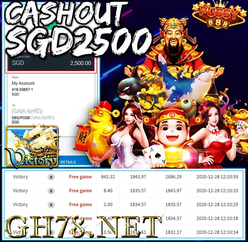 MEMBER PLAY PUSSY888 CASHOUT SGD2500 !!!
