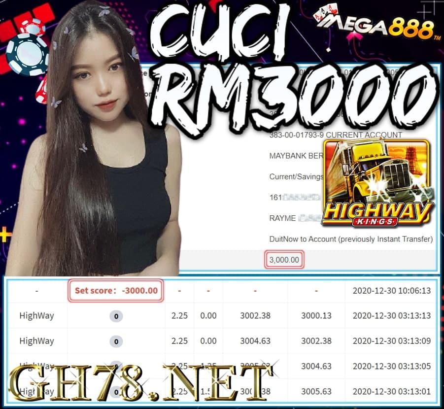 MEMBER MAIN MEGA888 CUCI RM3000 !!