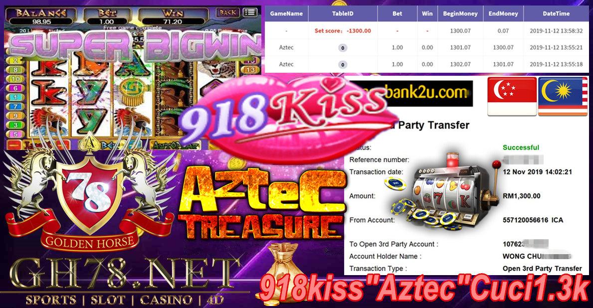 918KISS CUSTOMER MAIN AZTEC MINTA CUCI RM1300!!