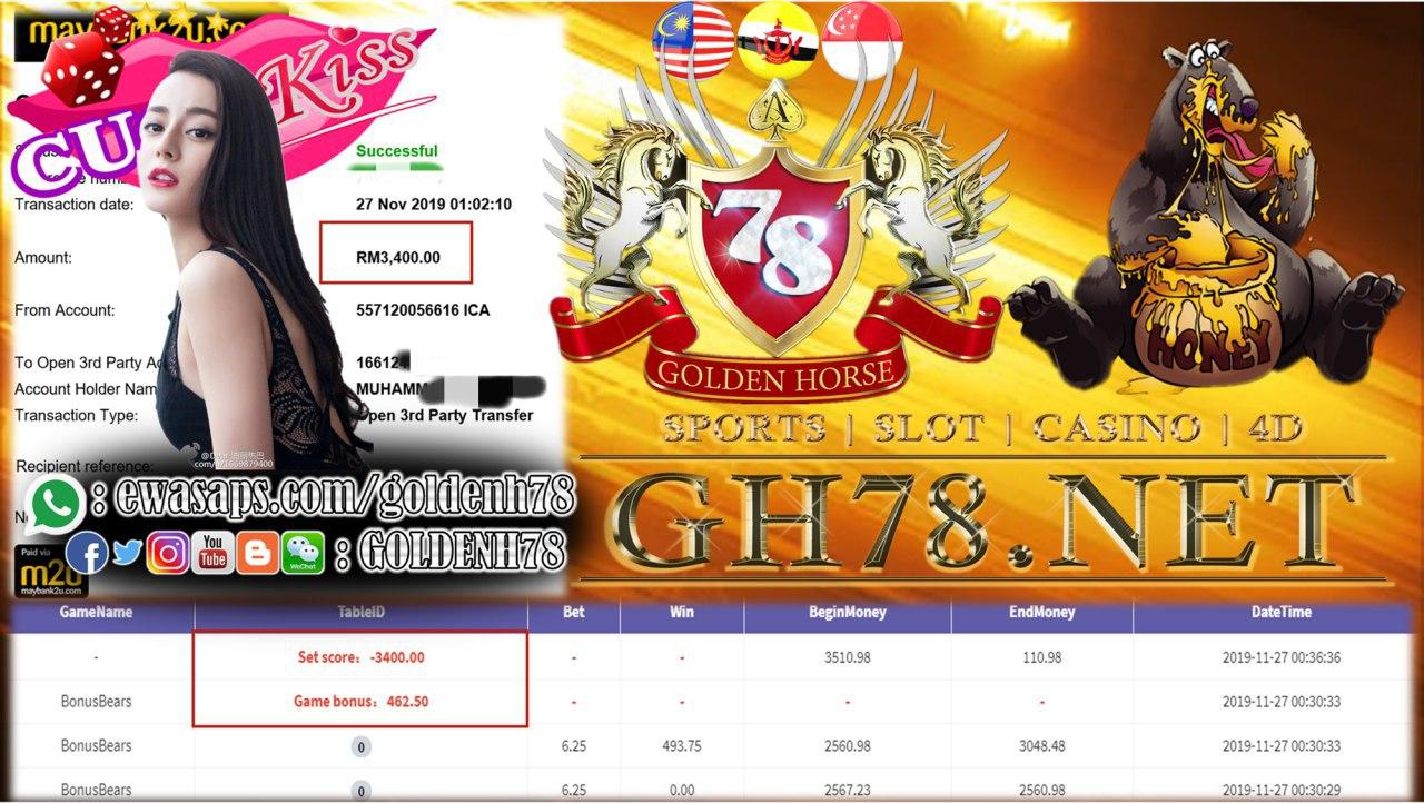 918KISS 918KISS 918KISS !! BONUS BEARS ! RM3400 !!