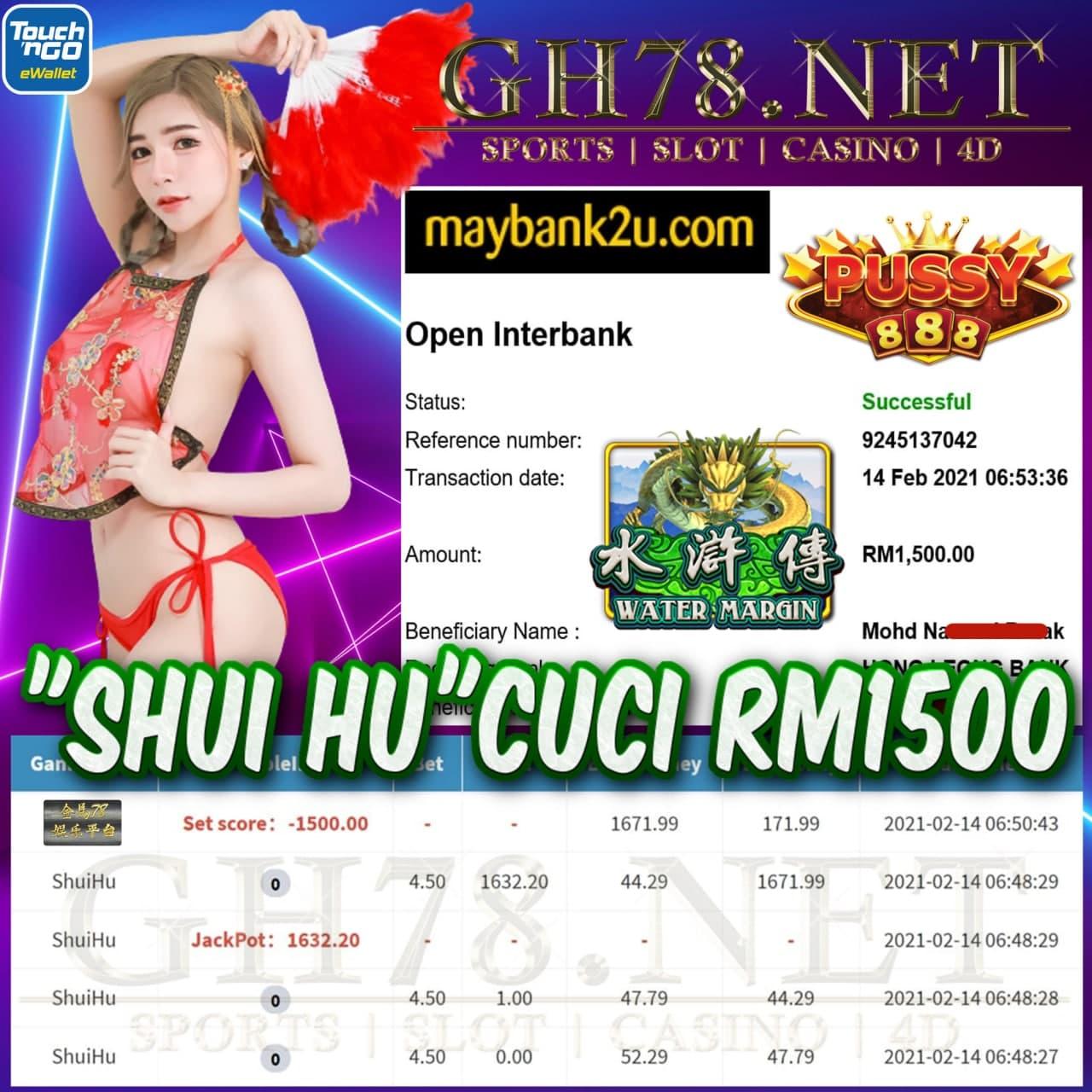 PUSSY888 SHUI HU CUCI RM1500