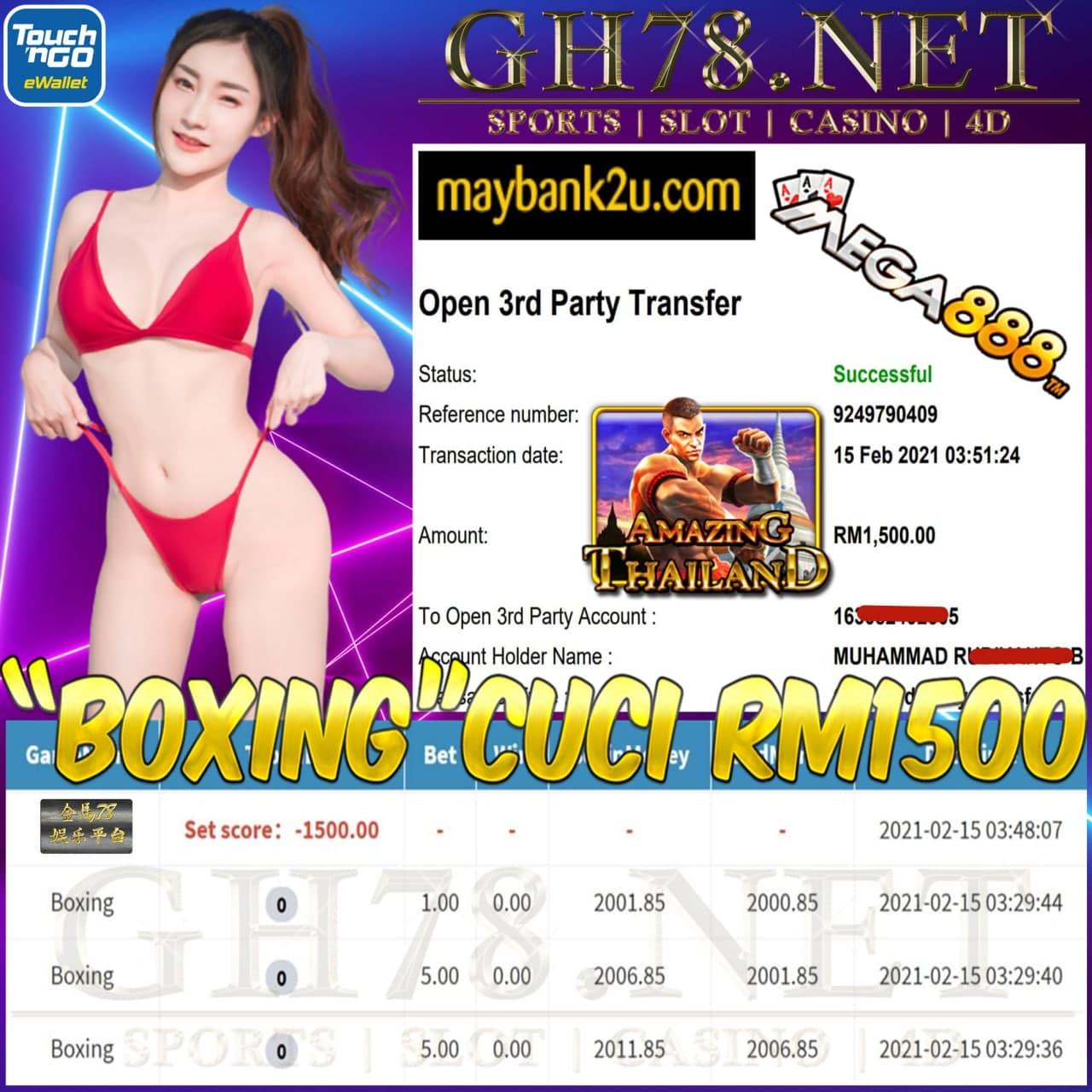 MEGA888 BOXING GAME CUCI RM1500