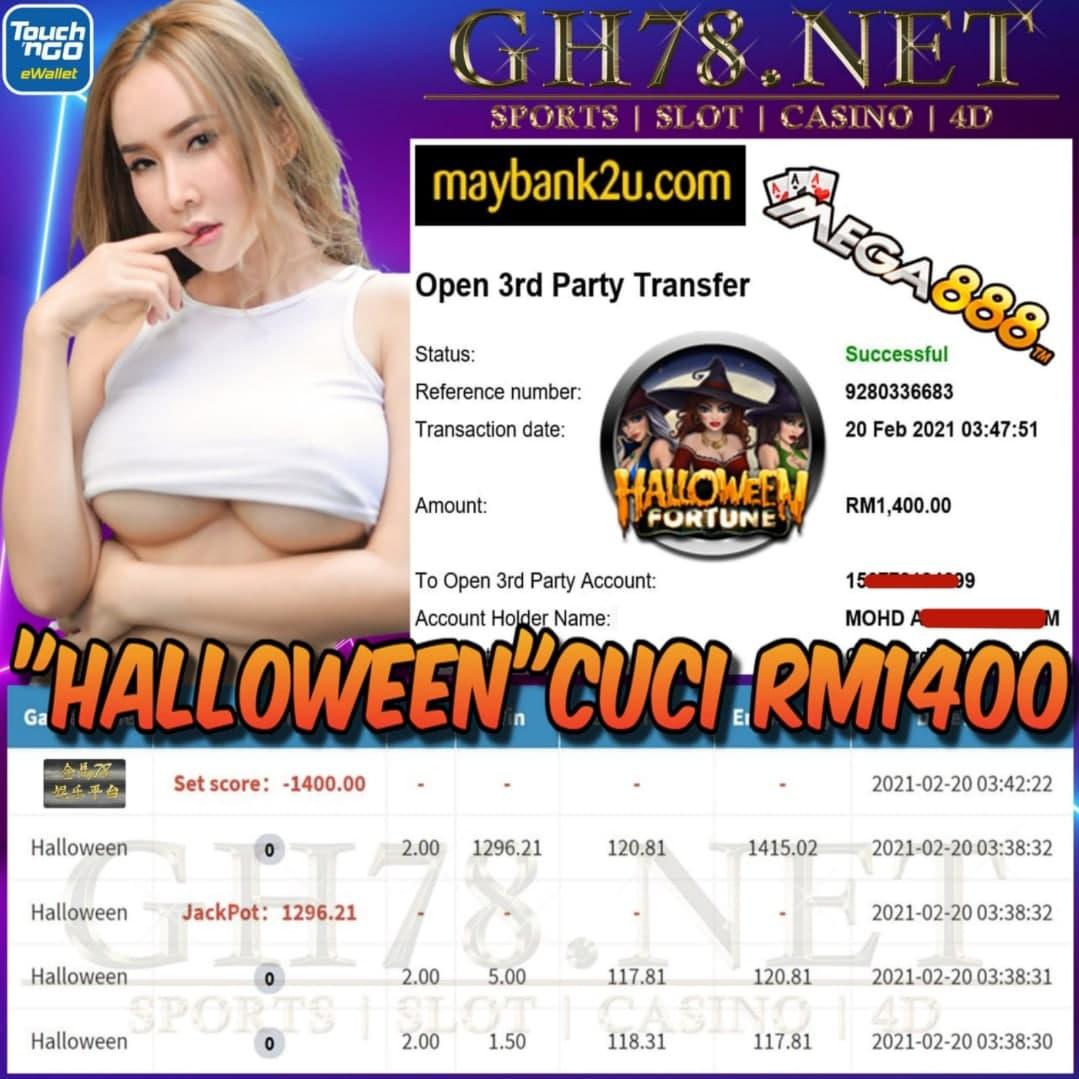 MEGA888 HALLOWEEN GAME CUCI RM1400