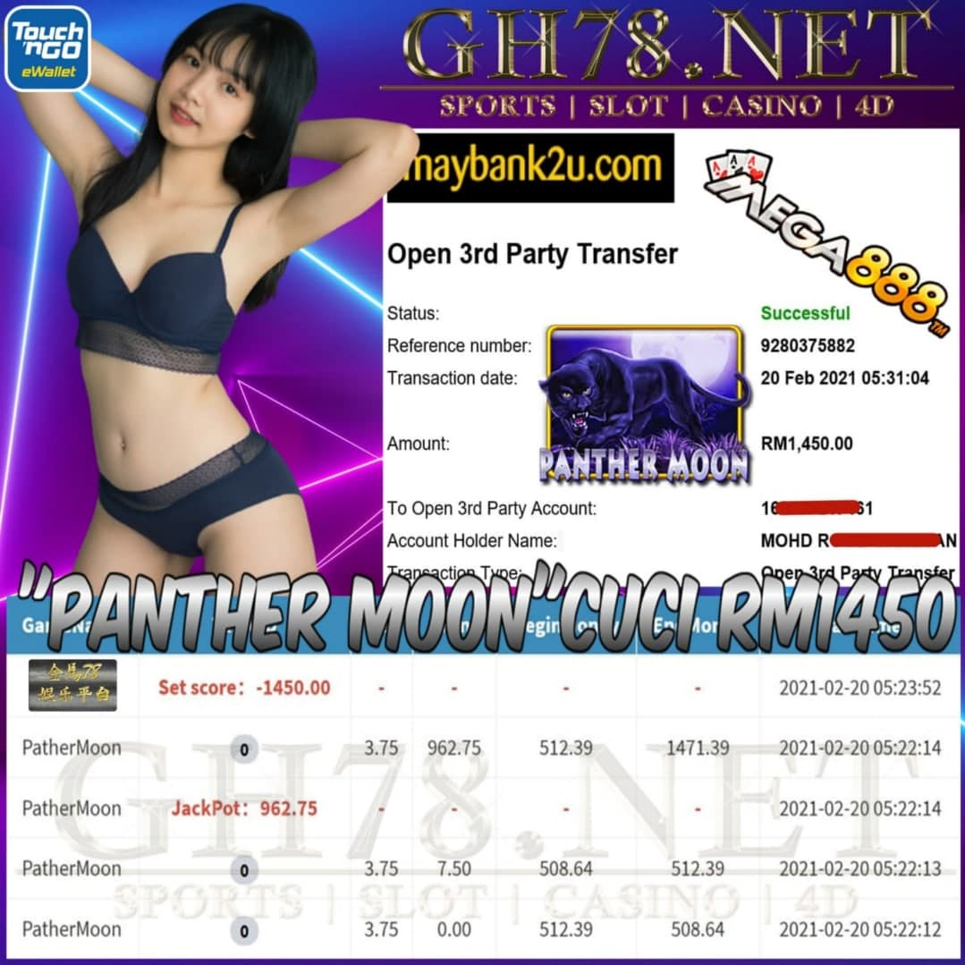MEGA888 PANTHER MOON GAME CUCI RM1450