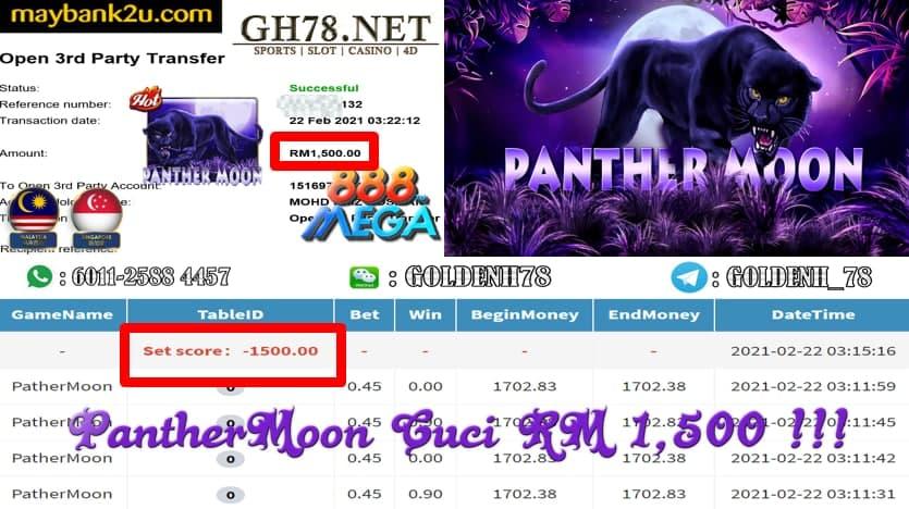 MEGA888 PANTHER MOON GAME CUCI RM1500