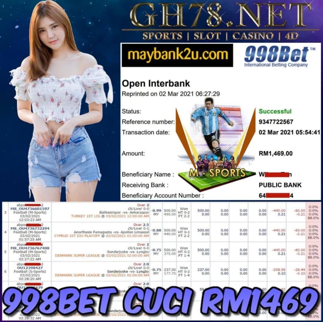 998BET M.SPORT CUCI RM1469